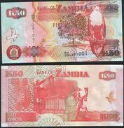 Zambia DEALER LOT ( 10 Pcs ) P 37 G - 50 Kwacha 2008 - UNC - Zambia