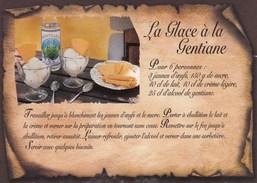 RECETTE DE CUISINE:  LA GLACE A LA GENTIANE  : Edit: EDY N° 11043.O  Neuve - Recipes (cooking)