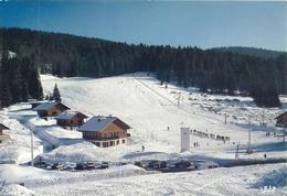 STATION DE SKI DU JURA . PREMANON-LES-JACOBEY . LES PISTES .  AFFR  LE 21-3-1985 . 2 SCANES - Frankreich