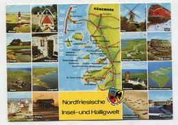 MAP - AK303144 Germany - Nordfriesische Insel- Und Halligwelt - Maps