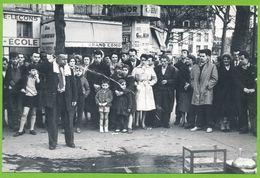 PARIS 1959 L'Avaleur De Grenouilles De La Place De La Bastille Carte Photo Originale En Tirage Limité à 1000 Ex - Arrondissement: 10