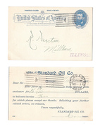 UX11 Postal Card 1892 Chicago Error Postmark No Dial On Front Reverse Mirror Cancel On Back - Errors, Freaks & Oddities (EFOs)