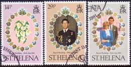 ST HELENA 1981 SG #378-80 Compl.set Used Royal Wedding - Saint Helena Island