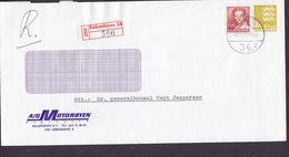 Denmark MOTORBYEN Halmtorvet Registered Recommandé Einschreiben KØBENHAVN (34.) Label 1982 Cover Brief Cz. Slania - Briefe U. Dokumente