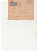 LETTRE RECOMMANDEE AFFRANCHIE N° 144 -TYPE MERSON - CAD VILLERS LA MONTAGNE -19-1-1923 - Postmark Collection (Covers)