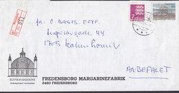 Denmark FREDENSBORG MARGARINEFABRIK Registered Recommandé Einschreiben HARESKOV Værløse Label 1981 Cover Brief Cz Slania - Briefe U. Dokumente
