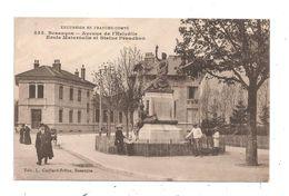 Besançon- Avenue De L'Helvétie -Ecole Maternelle , Statue Proudhon -(C.790) - Besancon