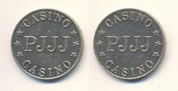 PJJJ CASINO TOKEN GAME GAMING GAMBLING SLOT MACHINE JETON GETTONE FISH CHIP Metal Ø22mm - Casino
