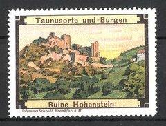 Vignette Publicitaire Hohenstein, Vue Sur Burgruine - Erinnofilie
