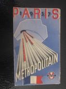 PARIS 1937 Métro Métropolitain Carte Plans De Réseaux-Schémas De Lignes -Stations Parisiennes Légendes.Exposition Avril - Europe