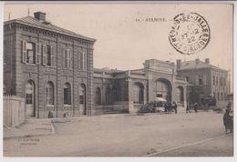 AULNOYE : LA GARE - EDITION L. COUTURE HAUTMONT - ECRITE EN 1922 -* 2 SCANS *- - Aulnoye