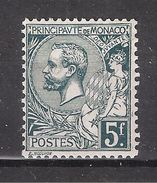MONACO 1920, Prince Albert 1er , Yvert N° 47, 5 F FRANCS Vert Gris Foncé , Neuf ** / MNH, Bon Centrage ,TTB - Monaco