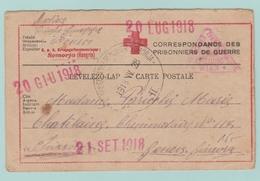 Fr26. 1914-1918 CP/ Croix-Rouge Rép. KuK Kriegsgefangenenlager Somorja Hongrie + 3 Dates= 1918 - Guerra De 1914-18