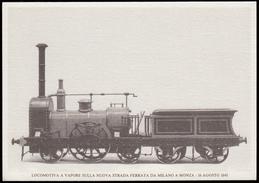Locomotiva A Vapore Sulla Nuova Strada Ferrata Da Milano A Monza - 16 Agosto 1840 / 150° Anniversario 1990 - Treni