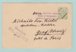 Fr26. 1914-1918 Entier Postal + KuK Feldpost à Belgrad 1.5.16 + Croix-Rouge Serbe + Gesehen Mil. Censur - Interi Postali