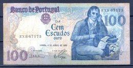 477-Portugal Billet De 100 Escudos 1985 EXB671 - Portugal