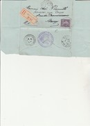 """LETTRE """"AVIS DE PROTET """" AFFRANCHIE N° 142  OBLITERE CAD : AUDUN LE ROMANS - MEURTHE ET MOSELLE - ANNEE 1914 - 1877-1920: Période Semi Moderne"""