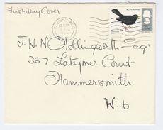 1966 St Johns Wood GB FDC  Bird BLACKBIRD Stamps Cover Birds - FDC