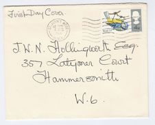1966 St Johns Wood GB FDC Bird BLUE TIT Stamps Cover Birds - FDC