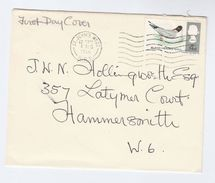 1966 St Johns Wood GB FDC Bird BLACK HEADED GULL  Stamps Cover Birds - FDC