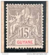 GUYANE : TP N° 45 * - Guyane Française (1886-1949)