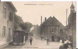 CPA - Valentigney   ( Doubs ) - Entrée Des Usines Peugeot - Train Tramway - Valentigney
