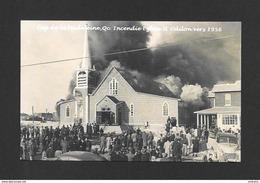 CAP DE LA MADELEINE - TROIS RIVIÈRES - QUÉBEC - INCENDIE DE L' ÉGLISE ST ODILON VERS 1956 - Trois-Rivières