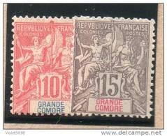 Gde COMORE : TP N° 14/15 * - Grote Komoren (1897-1912)