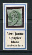 FRANCE- Y&T N°53a)- Vert Sur Papier Blanc- Cachet à Date - 1871-1875 Ceres