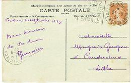 DAGUIN DU FORT DE DOUAUMONT SUR CPA VERDUN - Postmark Collection (Covers)
