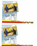 M DUE CARTOLINE PRESEPE VIVENTE  TRICASE LECCE 2004 LIVING CRIB BELÉN NATALE - Non Classificati