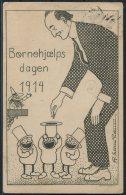 1914 Denmark Bornehjaels Dagen 1st Flight Airmail Postcard - Airmail