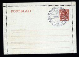A4923) Niederlande Kartenbrief Ungebraucht Mit Seltenem Sonderstempel Polnische Ausstellung 1937 - 1891-1948 (Wilhelmine)