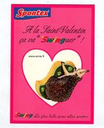 Carte Herisson Publicite Spontex  Saint Valentin - Animaux & Faune
