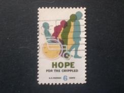 UNITED STATE EE.UU ÉTATS-UNIS US USA  1969 Hope For The Crippled  Varieta : Wheelchair Decal Print Decal - Errors, Freaks & Oddities (EFOs)