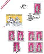 1500o: Österreich 1988, Kunst Und Mönchtum Stift 3353 Seitenstetten, FDC Und Gesamt 6mal **/o, Plus Mustermarke - Christentum