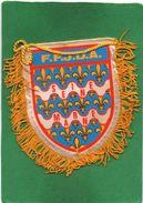 SEINE ET MARNE.  FANION TISSUS BRODE. F.F.J.D.A.  Voir Scannes Recto Verso - Sports De Combat
