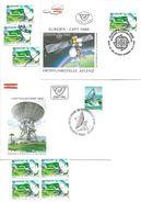 1500r: Österreich 1980/ 88, Erdefunkstelle Aflenz, FDC Und Gesamt 6mal O, Plus Mustermarke - Klima & Meteorologie