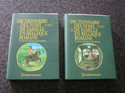 DICTIONNAIRE DES NOMS DE FAMILLE EN BELGIQUE ROMANE ET DANS LES REGIONS LIMITROPHES J Herbillon 2 Tomes - Belgique