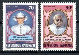 Gabon, 1981, Missionaries, Religion, MNH, Michel 795-796 - Gabon