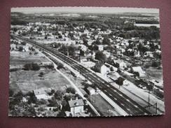 CPA CPSM PHOTO 91 LARDY Vue Aérienne Quartier De  La Gare  RARE PLAN 1960 Canton ARPAJON - Lardy