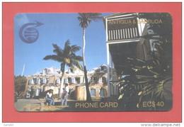 ANTIGUA & BARBUDA: ANT-3D EC $40 SMALL NOTCH CN:3CATD In Hard Used C (10.000ex) - Antigua And Barbuda