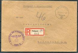 1942 Germany DR Feldpost Einschreiben Cover - Offenbach - Briefe U. Dokumente