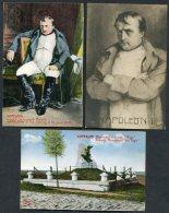 Napoleon Bonapart / Battle Of Waterloo X 3 Postcards - Politicians & Soldiers