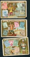 3 X Liebig Stamp Cards China Paraguay Tunisia - Liebig