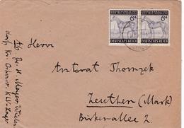 DR,  Mi 857,  Brief  Von Groosdorf über Ostrowo  Nach Zeuthen, 18.12.43 - Deutschland