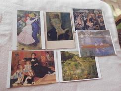 LOT DE 6 CARTES ...ART ..PEINTURE ... P.A RENOIR - 5 - 99 Postcards