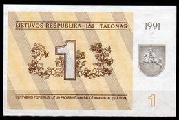 Lituania-006 (Immagine Campone), 1 Talonas,1991 - Disponibili 3 Lotti. - Lituania