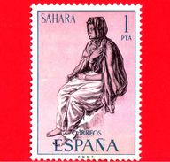 SAHARA SPAGNOLO - Usato - 1972 - Serie Ordinaria - Tipi Umani Sahariani - 1 - Sahara Spagnolo