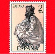 SAHARA SPAGNOLO - Usato - 1972 - Serie Ordinaria - Tipi Umani Sahariani - 2 - Sahara Spagnolo